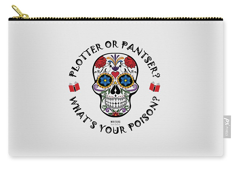 Carry-all Pouch featuring the digital art Plotter Or Pantser - What's Your Poison? by Inlie