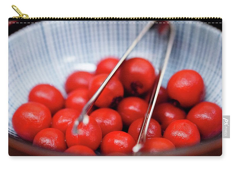 Plum Carry-all Pouch featuring the photograph Plum by Kyle Lin