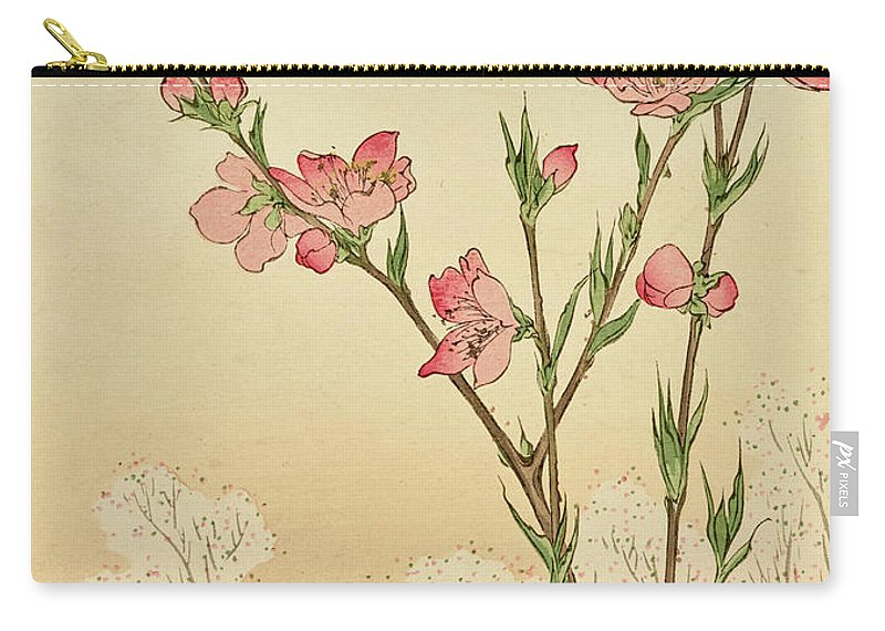 Plum Carry-all Pouch featuring the painting Plum Or Cherry Blossom by Untitled