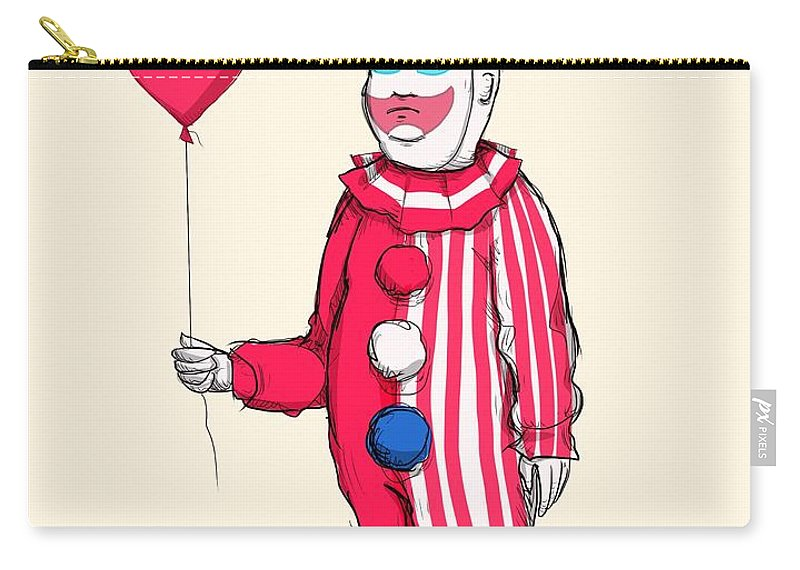 John Wayne Gacy Carry-all Pouch featuring the drawing Pogo Hill by Ludwig Van Bacon