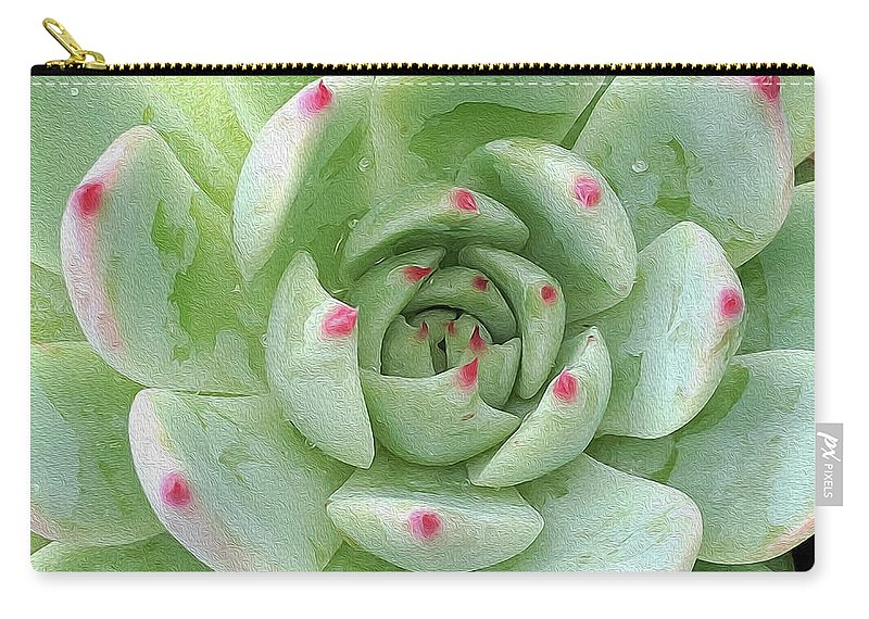 Pink Carry-all Pouch featuring the mixed media Points Of Pink by Todd Lambirth
