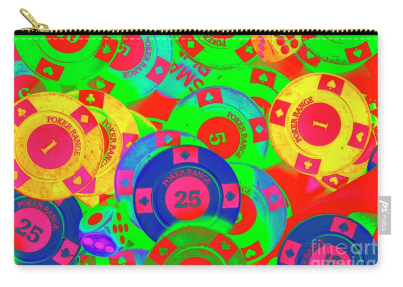 Gambling Carry-all Pouch featuring the photograph Poker Stacks by Jorgo Photography - Wall Art Gallery
