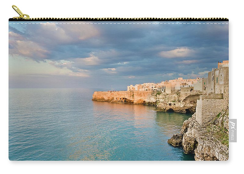 Adriatic Sea Carry-all Pouch featuring the photograph Polignano A Mare On The Adriatic Sea by David Madison
