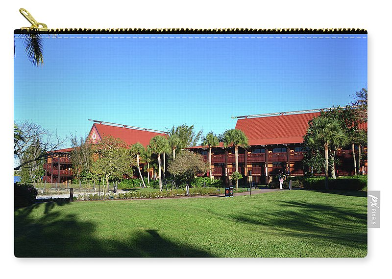 Photography Carry-all Pouch featuring the photograph Polynesian Village Grounds by David Lee Thompson