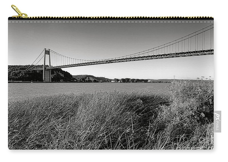 Pont Carry-all Pouch featuring the photograph Pont De Tancarville by Olivier Le Queinec