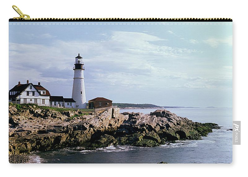 Extreme Terrain Carry-all Pouch featuring the photograph Portland Head Lighthouse, Cape by Tony Sweet
