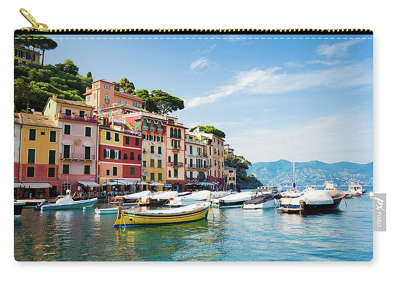 Water's Edge Carry-all Pouch featuring the photograph Portofino, Liguria, Italy by Brzozowska