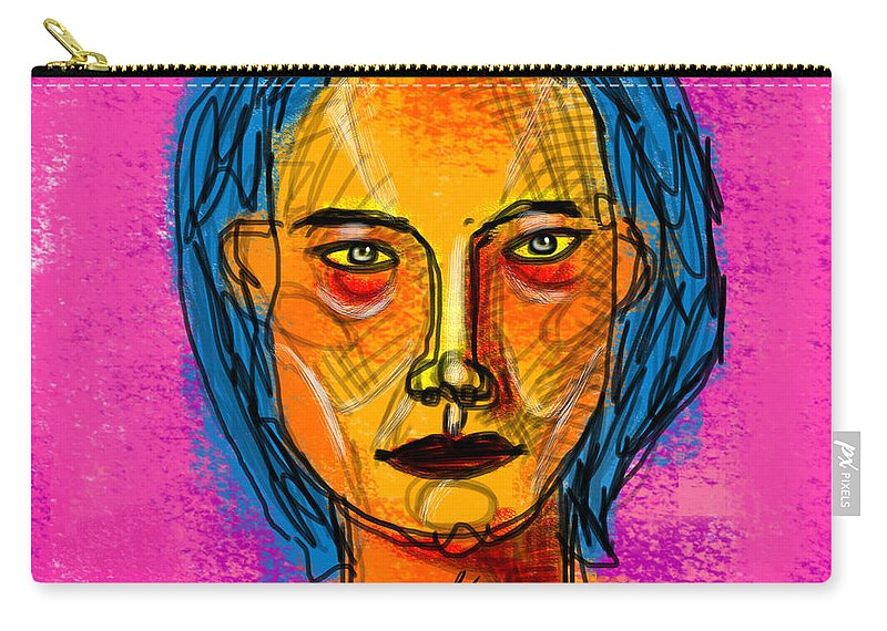 Woman Carry-all Pouch featuring the painting Portrait Of A Woman 1139 by Maciej Mackiewicz