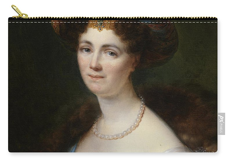 Francois Joseph Kinsoen Carry-all Pouch featuring the painting Portrait Of Josephine Victoire Meslier Duvey D by Francois Joseph Kinsoen