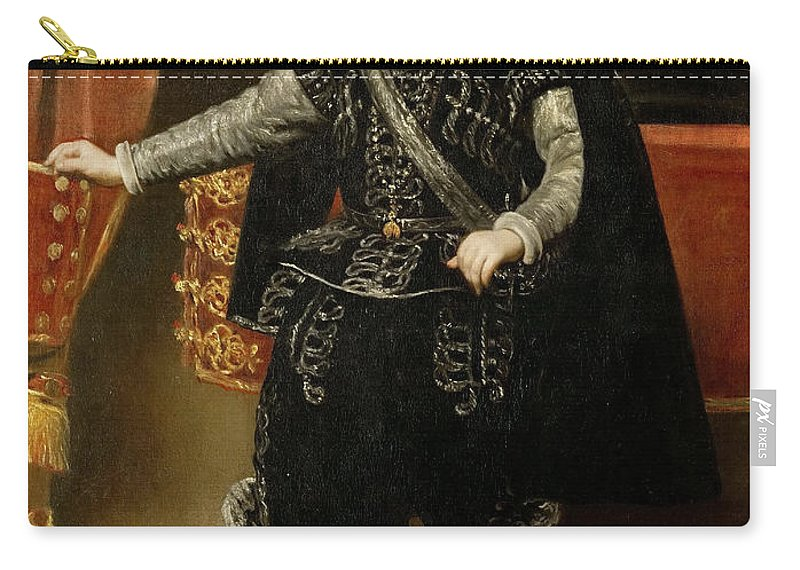 Diego Velázquez Carry-all Pouch featuring the painting Portrait Of Philip Iv by Diego Vel zquez
