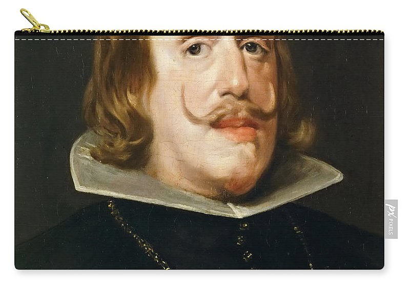 Diego Velázquez Carry-all Pouch featuring the painting Portrait Of Philip Iv King Of Spain by Diego Vel zquez