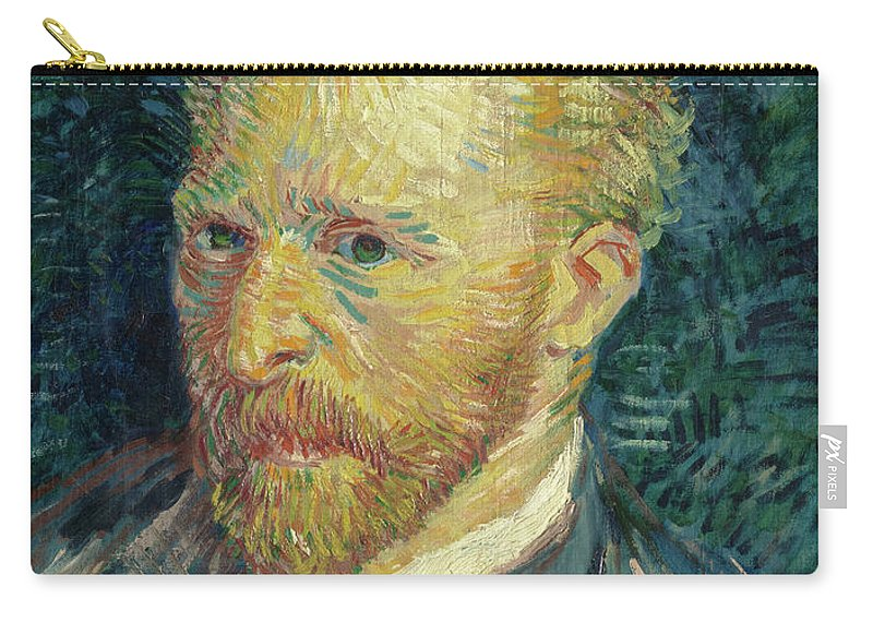 Vincent Van Gogh Carry-all Pouch featuring the painting Portrait Of The Artist, 1887 by Vincent van Gogh