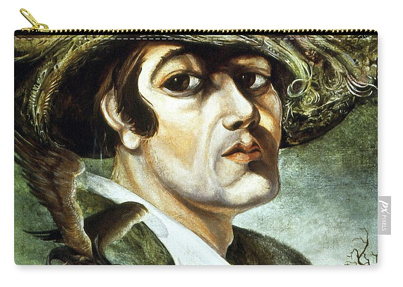 Otto Rapp Carry-all Pouch featuring the painting Portrait Of Young Bogomil by Otto Rapp