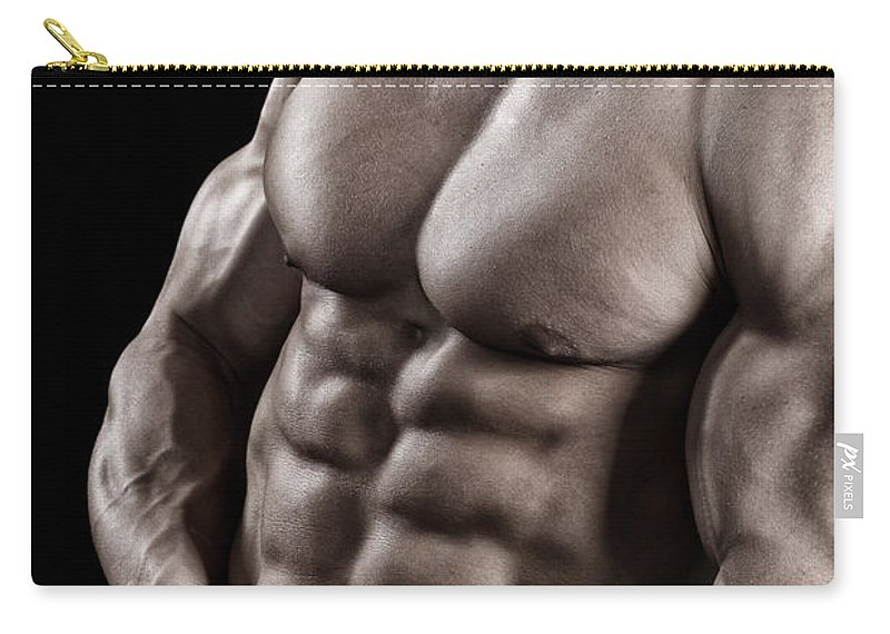 Toughness Carry-all Pouch featuring the photograph Powerful Fighter Portrait by Vuk8691