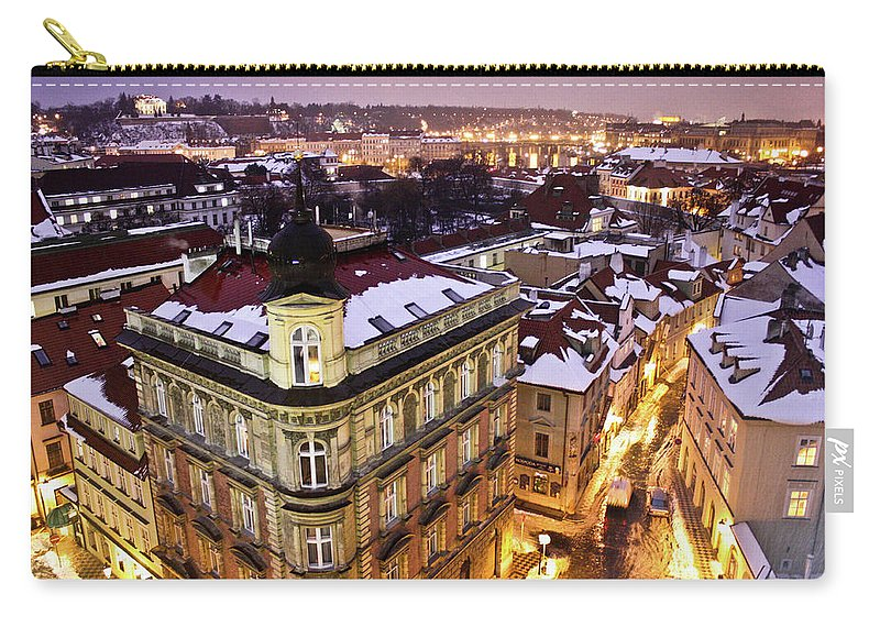 Snow Carry-all Pouch featuring the photograph Prague Lights by Usman Baporia