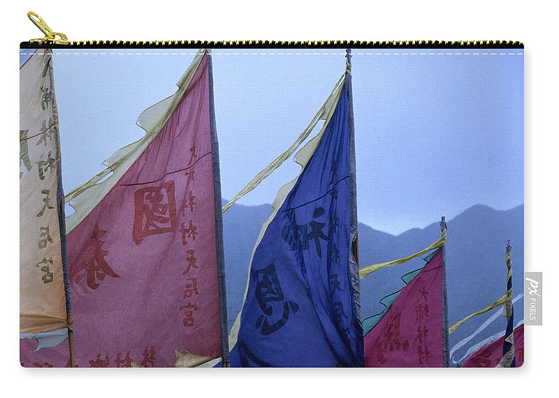 Chinese Culture Carry-all Pouch featuring the photograph Prayer Flags To The Sea Goddess Blow In by Lonely Planet