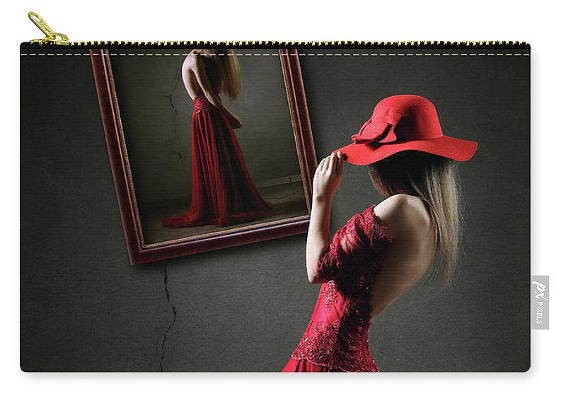 Woman Carry-all Pouch featuring the photograph Pretense by Johan Swanepoel