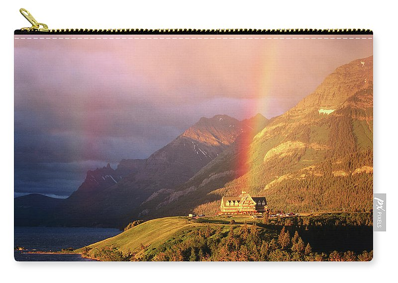 Scenics Carry-all Pouch featuring the photograph Prince Of Wales Hotel, At The End Of A by John Elk