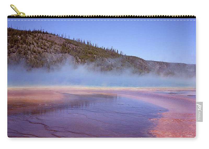 Tranquility Carry-all Pouch featuring the photograph Prismatic Spring Algae by L. Maile Smith