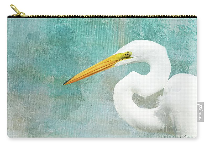 Wildlife Carry-all Pouch featuring the photograph Protrait Of A Great Egret by Beve Brown-Clark Photography