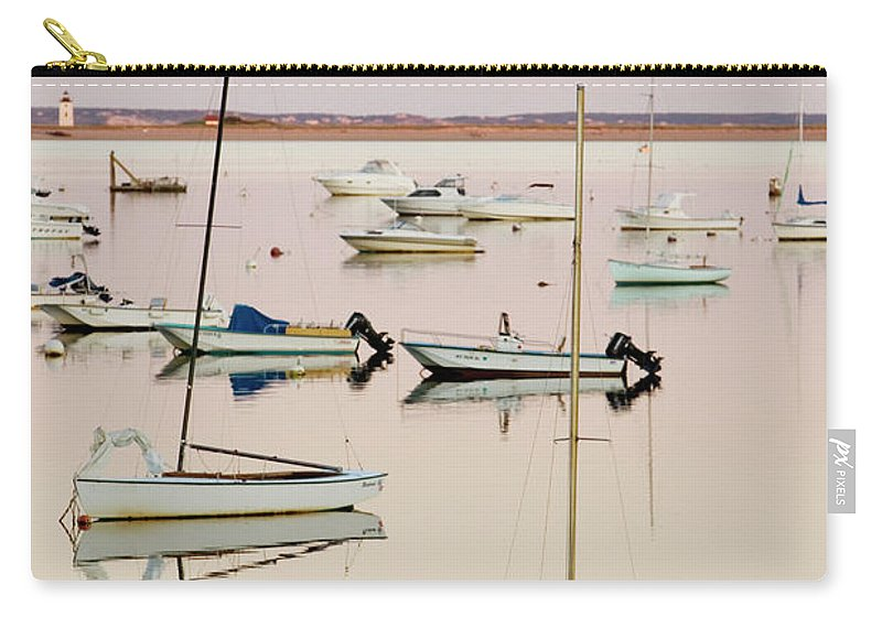Sailboat Carry-all Pouch featuring the photograph Provincetown Harbor by Walter Bibikow