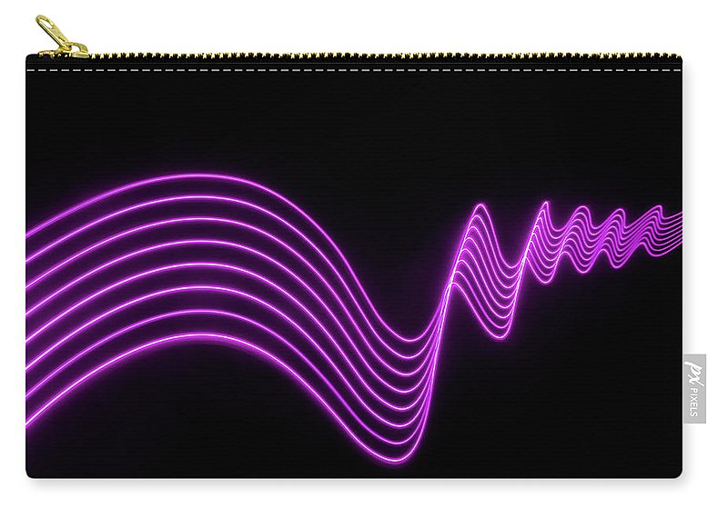 Laser Carry-all Pouch featuring the photograph Purple Abstract Lights Trails And by John Rensten