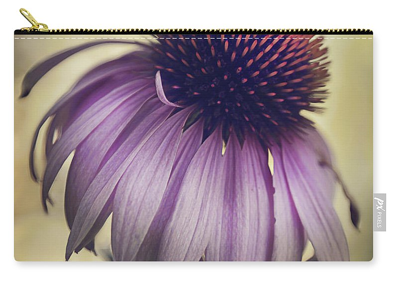 Purple Coneflower Carry-all Pouch featuring the photograph Purple Coneflower by Deena Athans