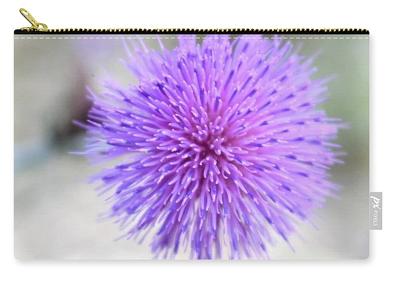 Purple Carry-all Pouch featuring the photograph Purple Peace by Sheridan Jones