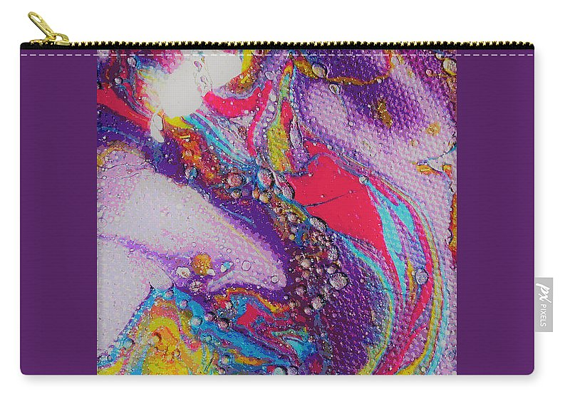 Abstract Carry-all Pouch featuring the painting Purple Stream by Jan Pellizzer