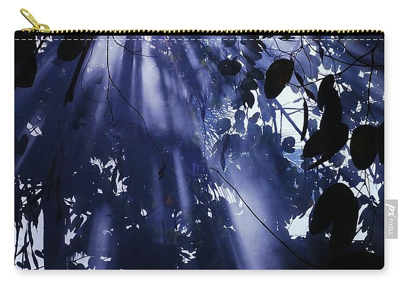 Carry-all Pouch featuring the photograph Purple Sunshine by Chrystal Kaminsky