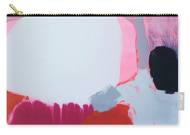 Abstract Carry-all Pouch featuring the painting Pussycats In Pussy Hats by Claire Desjardins