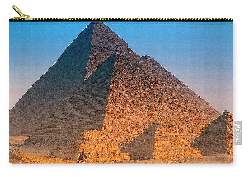 Majestic Carry-all Pouch featuring the photograph Pyramids, Cairo, Egypt by Peter Adams