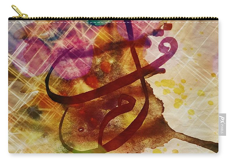 Watercolor Carry-all Pouch featuring the mixed media qALAM by Saliha Khanum