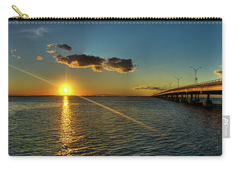 Panoramic Carry-all Pouch featuring the photograph Queen Isabella Causeway by Joshua Bozarth