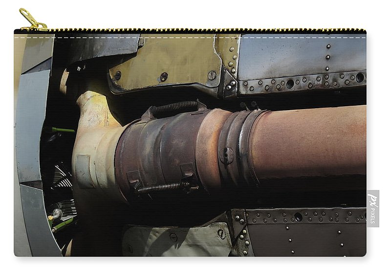 Radial Engine Exhaust Carry-all Pouch featuring the photograph Radial Engine Exhaust by Bill Tomsa