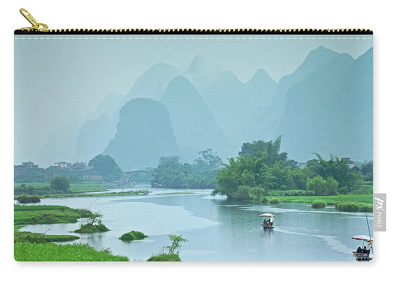 Water's Edge Carry-all Pouch featuring the photograph Rafting In China by Phototropic