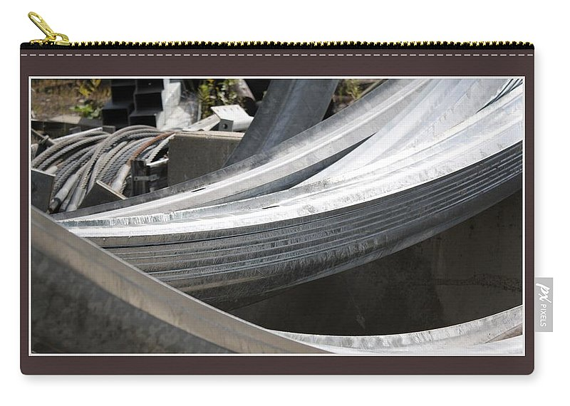 Fine Art Photography Carry-all Pouch featuring the photograph Rail Curves by David Wilde