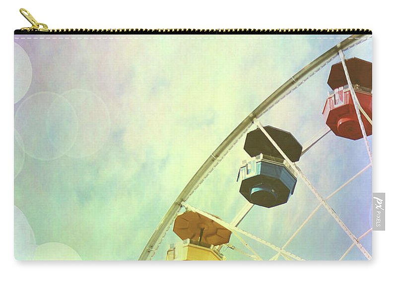 Photography Carry-all Pouch featuring the photograph Rainbow Ferris Wheel V by Sylvia Coomes