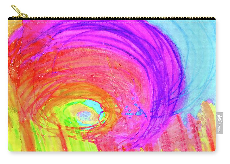 Rainbow Carry-all Pouch featuring the painting Rainbow Shell by Karen Szybalski
