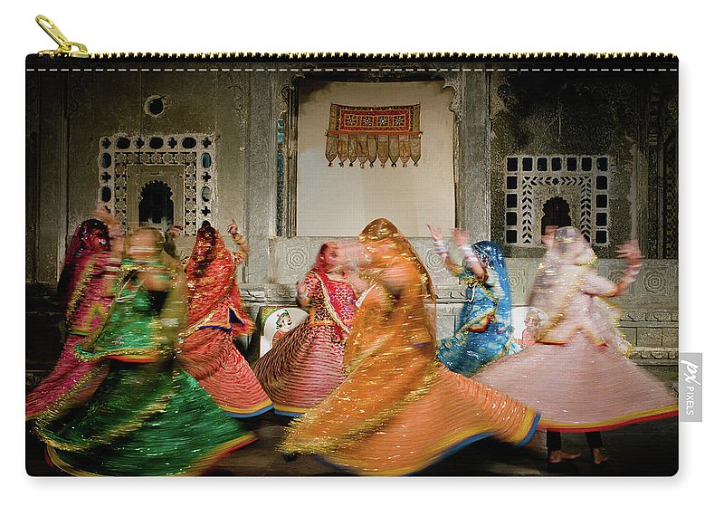 People Carry-all Pouch featuring the photograph Rajasthani Dances by Ania Blazejewska