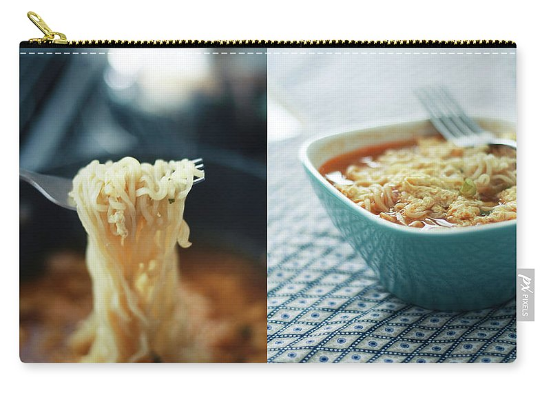 Kitchen Carry-all Pouch featuring the photograph Ramen Noodles Diptych by Alice Gao Photography