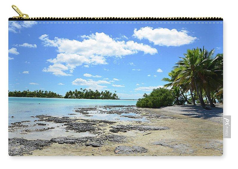 Scenics Carry-all Pouch featuring the photograph Rangiroa - Blue Lagoon by Rodrigo Pitorri