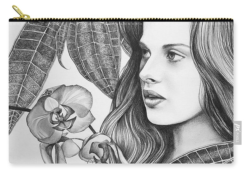 Rappacini's Daughter Carry-all Pouch featuring the drawing Rappacini's Daughter by Hunter Jay