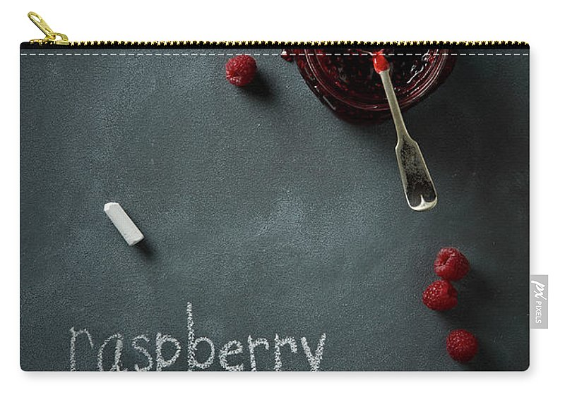 Spoon Carry-all Pouch featuring the photograph Raspberry Jam by Lew Robertson