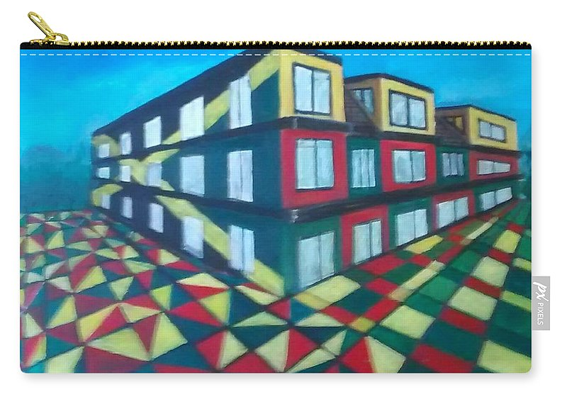Rasta Art Carry-all Pouch featuring the painting Rasta Academy by Andrew Johnson