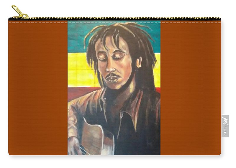 Rasta Art Carry-all Pouch featuring the painting Rasta Music by Andrew Johnson