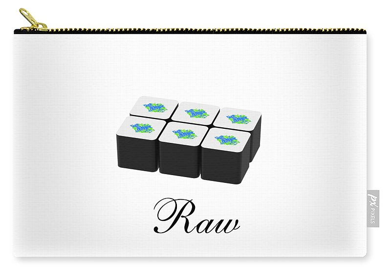 Raw Carry-all Pouch featuring the mixed media Raw by Danielle Acevedo