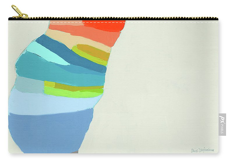 Abstract Carry-all Pouch featuring the painting Ready To Make A Splash by Claire Desjardins