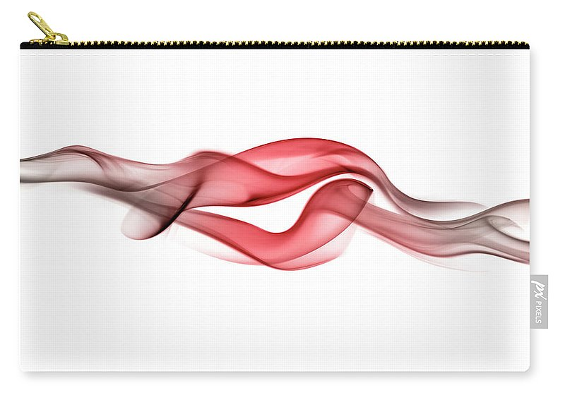 Curve Carry-all Pouch featuring the photograph Red Curling Smoke by Anthony Bradshaw