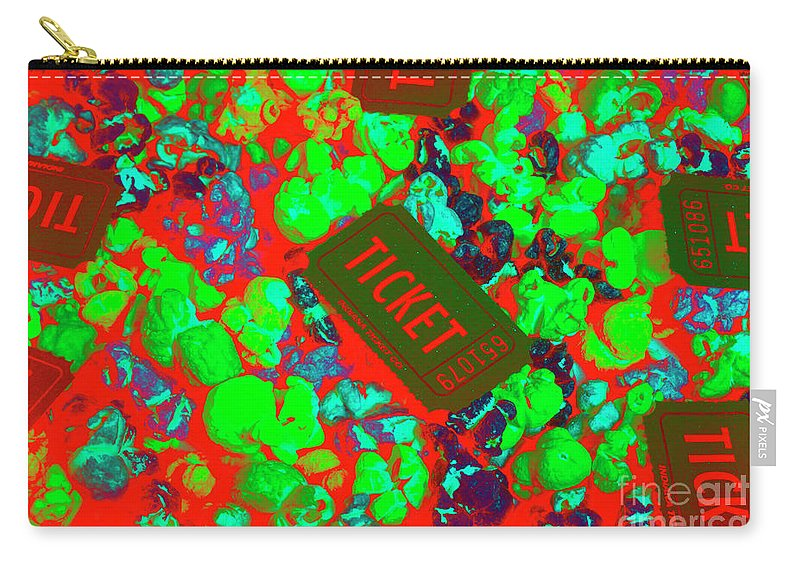 Ticket Carry-all Pouch featuring the photograph Red Hot Tickets by Jorgo Photography - Wall Art Gallery